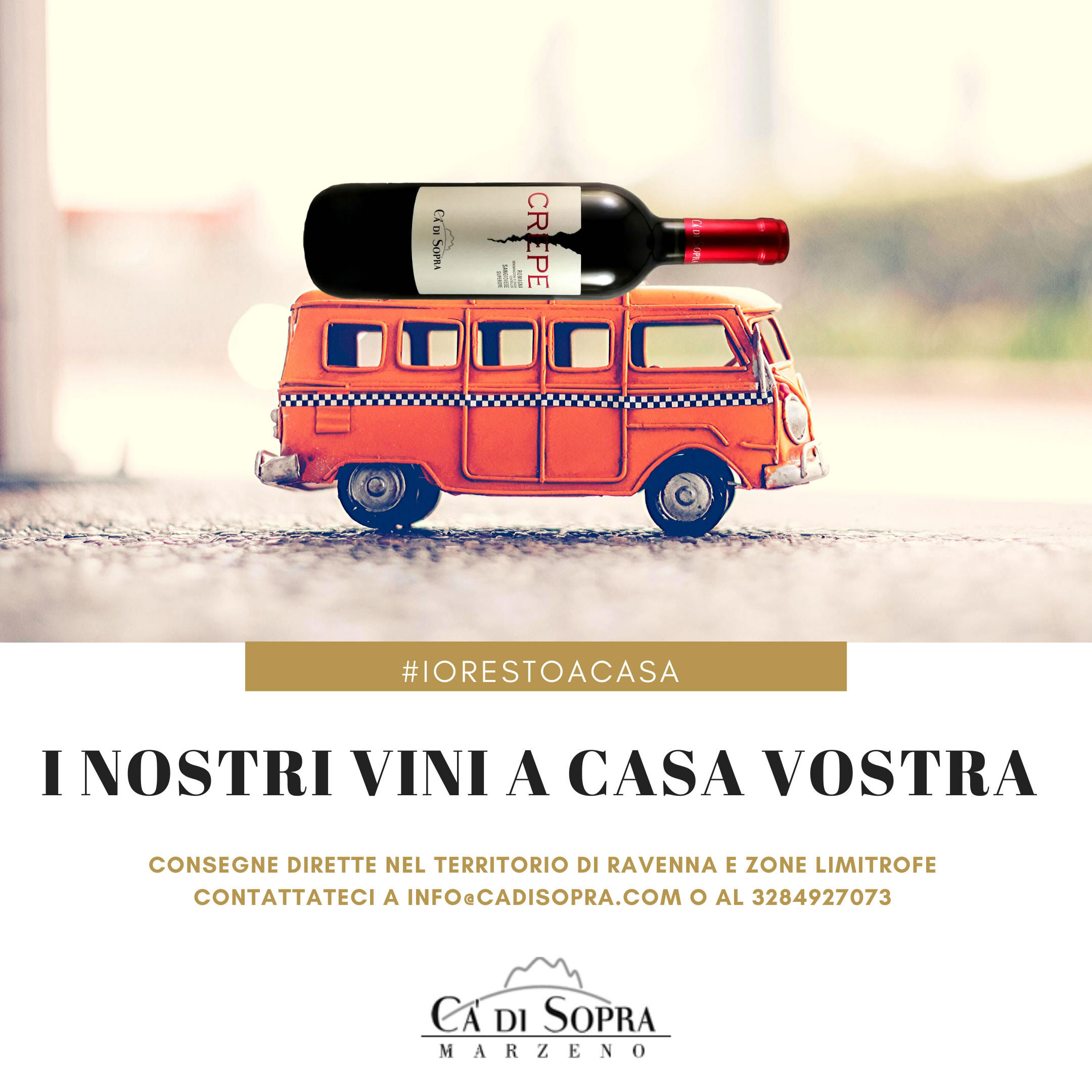 #IORESTOACASA: I NOSTRI VINI A CASA VOSTRA